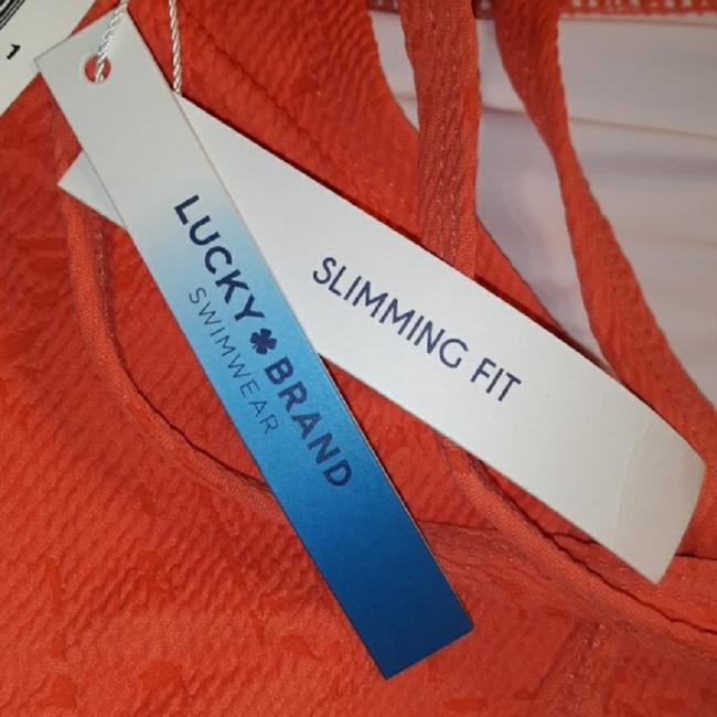 Lucky Brand Hot Coral Orange Delaney Slimming Swimsuit 1x One-piece Bathing Suit Size 20 (Plus 1x) Lucky Brand Hot Coral Orange Delaney Slimming Swimsuit 1x One-piece Bathing Suit Size 20 (Plus 1x) Image 11