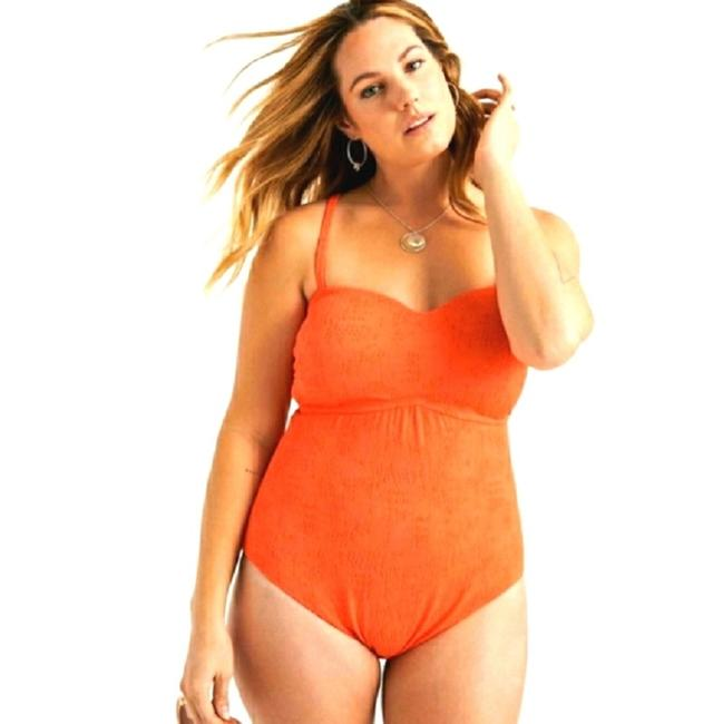 Lucky Brand Hot Coral Orange Delaney Slimming Swimsuit 1x One-piece Bathing Suit Size 20 (Plus 1x) Lucky Brand Hot Coral Orange Delaney Slimming Swimsuit 1x One-piece Bathing Suit Size 20 (Plus 1x) Image 6