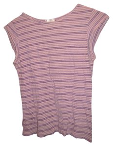 Lux Striped Greece Cotton Muscle Tee T Shirt purple, striped