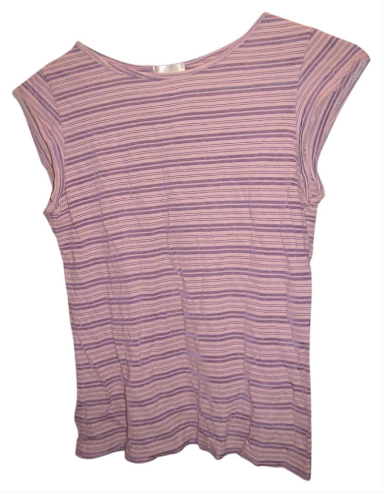 Lux stripe cotton t shirt purple striped for Purple and black striped t shirt