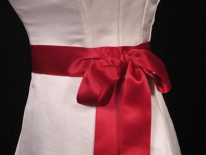 Cranberry Red Ribbon Sash