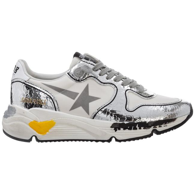 Golden Goose Deluxe Brand White/Silver Running Sole Sneakers Size EU 38 (Approx. US 8) Regular (M, B) Golden Goose Deluxe Brand White/Silver Running Sole Sneakers Size EU 38 (Approx. US 8) Regular (M, B) Image 1