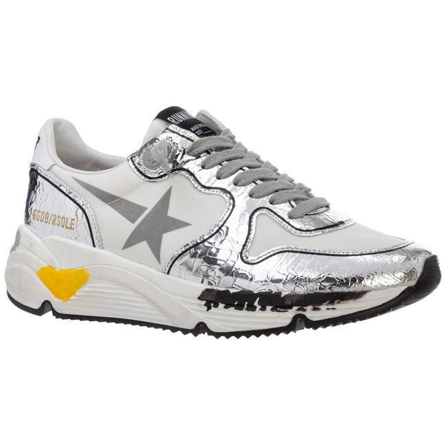 Golden Goose Deluxe Brand White/Silver Running Sole Sneakers Size EU 38 (Approx. US 8) Regular (M, B) Golden Goose Deluxe Brand White/Silver Running Sole Sneakers Size EU 38 (Approx. US 8) Regular (M, B) Image 2