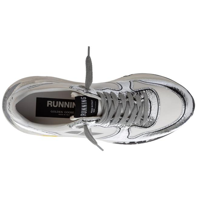 Golden Goose Deluxe Brand White/Silver Running Sole Sneakers Size EU 38 (Approx. US 8) Regular (M, B) Golden Goose Deluxe Brand White/Silver Running Sole Sneakers Size EU 38 (Approx. US 8) Regular (M, B) Image 3