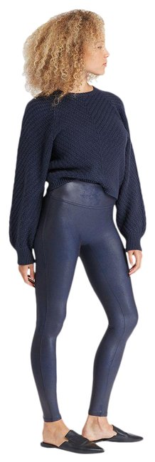 Item - Faux Leather High Waist In Night Navy Activewear Bottoms Size 8 (M)