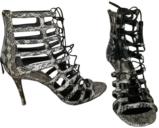 Item - Black and White Sandals Size EU 37.5 (Approx. US 7.5) Regular (M, B)