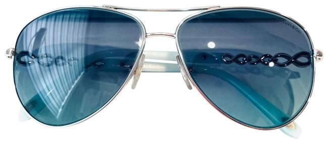 Tiffany & Co. Blue and Silver Infinity Collection Sunglasses Tiffany & Co. Blue and Silver Infinity Collection Sunglasses Image 1