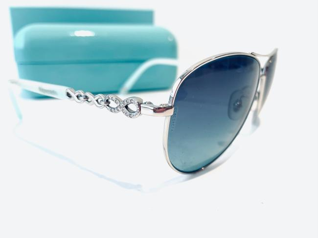 Tiffany & Co. Blue and Silver Infinity Collection Sunglasses Tiffany & Co. Blue and Silver Infinity Collection Sunglasses Image 3