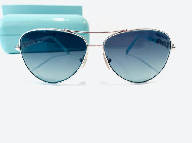 Tiffany & Co. Blue and Silver Infinity Collection Sunglasses Tiffany & Co. Blue and Silver Infinity Collection Sunglasses Image 4