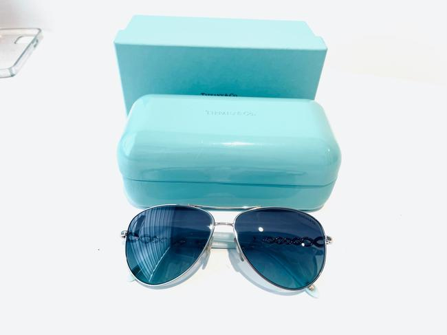 Tiffany & Co. Blue and Silver Infinity Collection Sunglasses Tiffany & Co. Blue and Silver Infinity Collection Sunglasses Image 5