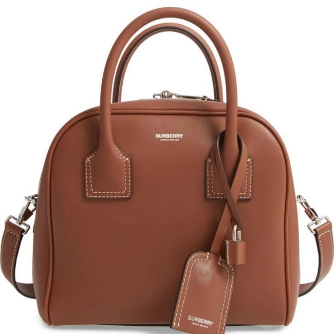 Item - Small Cube with Strap Brown Leather Satchel