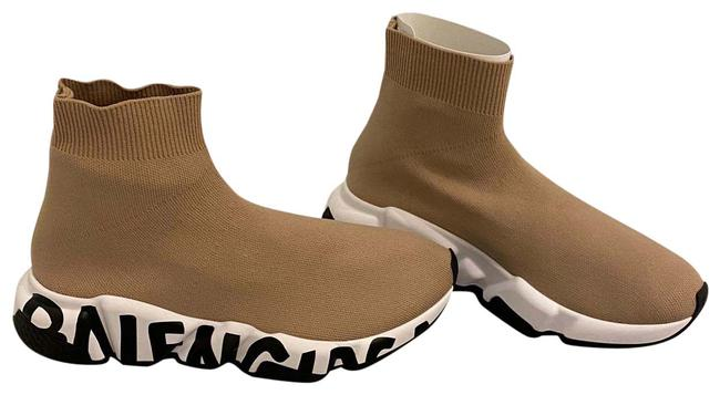 Item - Nude/Neutral Speed Knit Runner Stretch Sock Sneakers Size US 6 Regular (M, B)