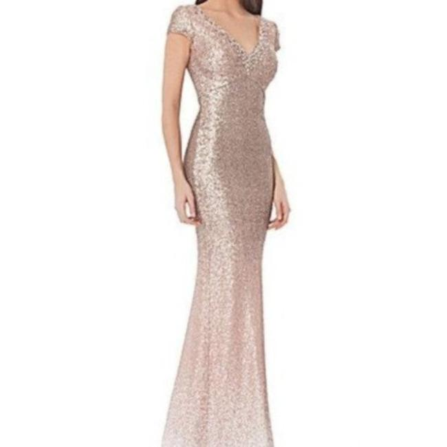 Item - Infusion Ombré Sequin Gown Taupe Long Cocktail Dress Size 10 (M)