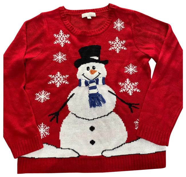 Item - Snowman Christmas Red Sweater