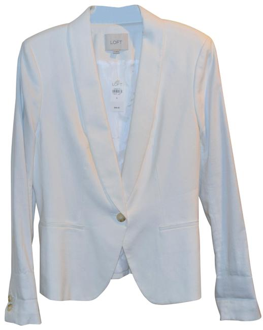 Item - White Rebecca Minkoff Grace Textured Double-breasted Blazer Jacket Size 8 (M)