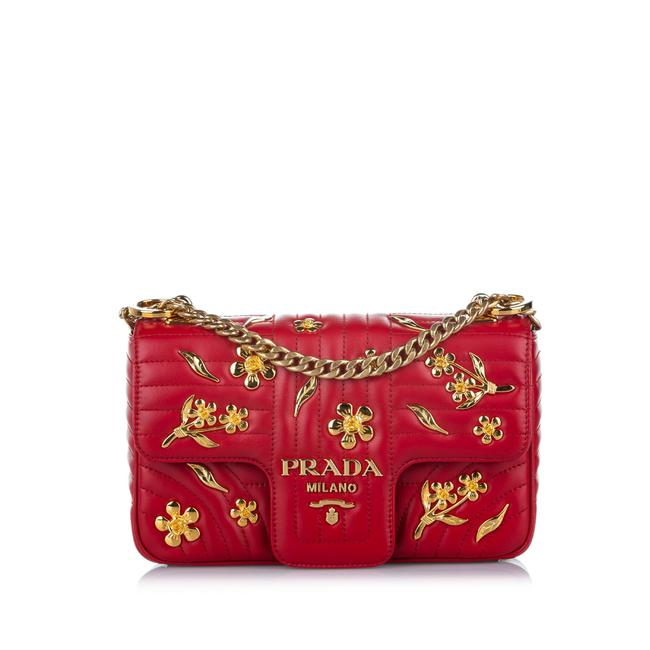 Item - Diagramme Red Leather Cross Body Bag