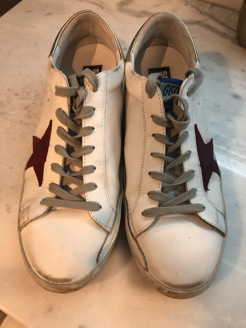 Golden Goose Deluxe Brand White/ Red/ Gold Superstar Mixed Leather Sneakers Size EU 44 (Approx. US 14) Regular (M, B) Golden Goose Deluxe Brand White/ Red/ Gold Superstar Mixed Leather Sneakers Size EU 44 (Approx. US 14) Regular (M, B) Image 3