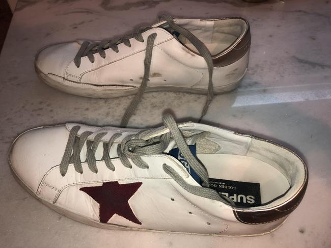 Golden Goose Deluxe Brand White/ Red/ Gold Superstar Mixed Leather Sneakers Size EU 44 (Approx. US 14) Regular (M, B) Golden Goose Deluxe Brand White/ Red/ Gold Superstar Mixed Leather Sneakers Size EU 44 (Approx. US 14) Regular (M, B) Image 6