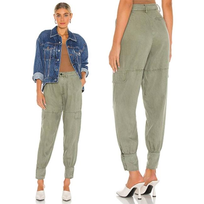 Item - Green Paxton Women's Trouser Tapered Leg In Activewear Bottoms Size 2 (XS, 26)
