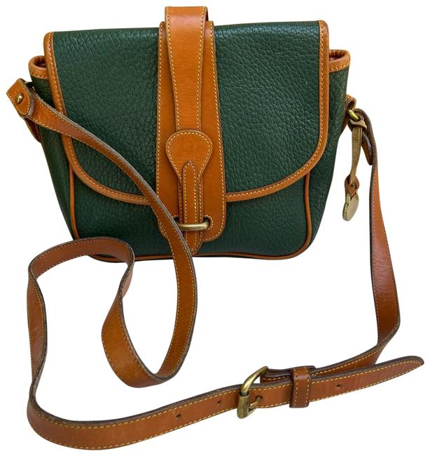Item - Equestrian Fir Vintage Green Brown All Weather Leather Cross Body Bag