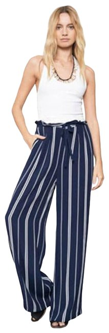 Item - Blue Rooney Stripe Drawstring Navy Small Activewear Bottoms Size 4 (S, 27)