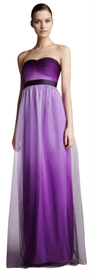 Phoebe Couture Purple Ombre Tulle Gown By Kay Unger Long Formal ...