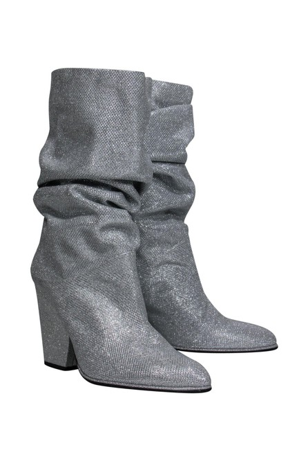 Item - Silver Boots/Booties Size US 9.0 Regular (M, B)