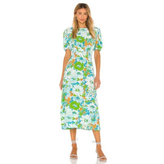 Item - Blue Green Mid-length Casual Maxi Dress Size 4 (S)