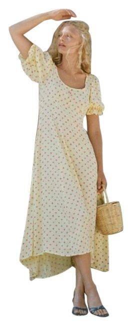 Item - Yellow Red Linnie Mid-length Casual Maxi Dress Size 4 (S)
