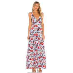 Blue, Red Maxi Dress by A.L.C. Party Floral Maxi Sleeveless