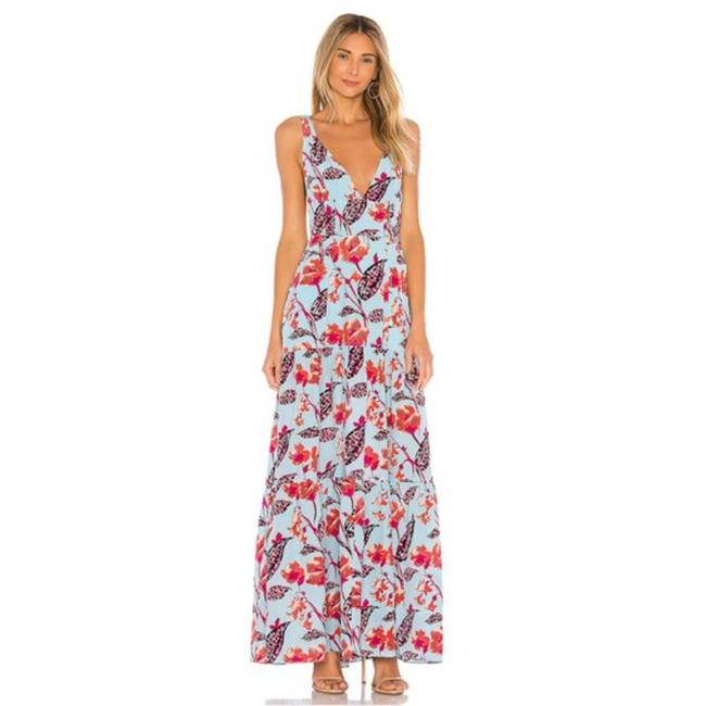 Item - Blue Red L Long Casual Maxi Dress Size 6 (S)