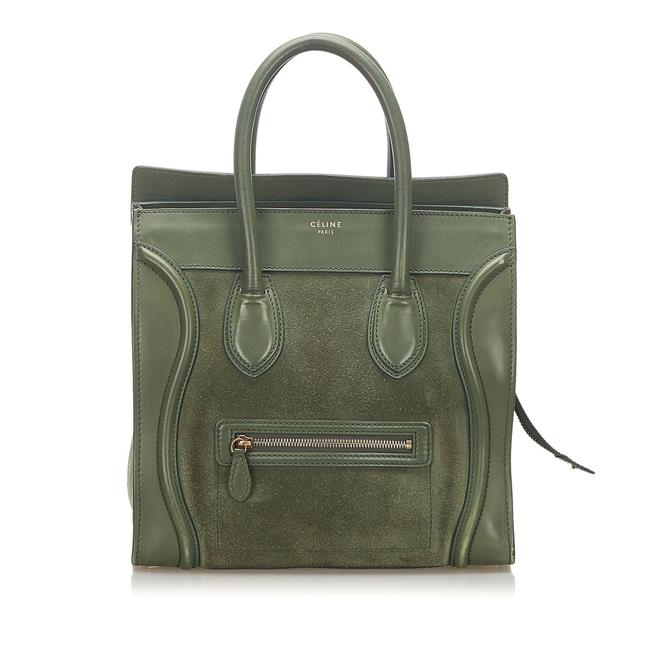 Item - Bag Luggage Green Leather Tote