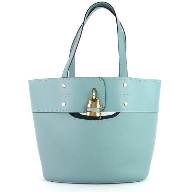 Item - Bag Aby Medium Faded Blue Leather Tote
