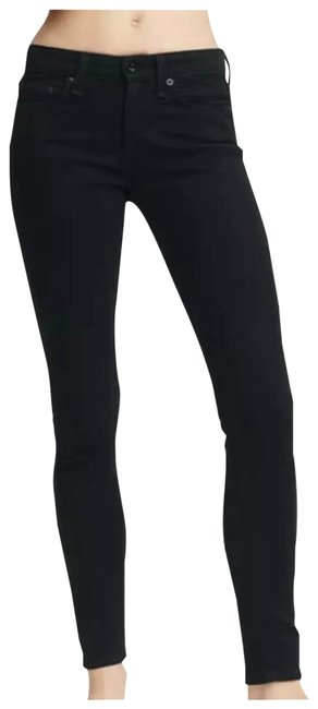 Item - Black Dark Rinse Cate No Fade Mid Skinny Jeans Size 28 (4, S)