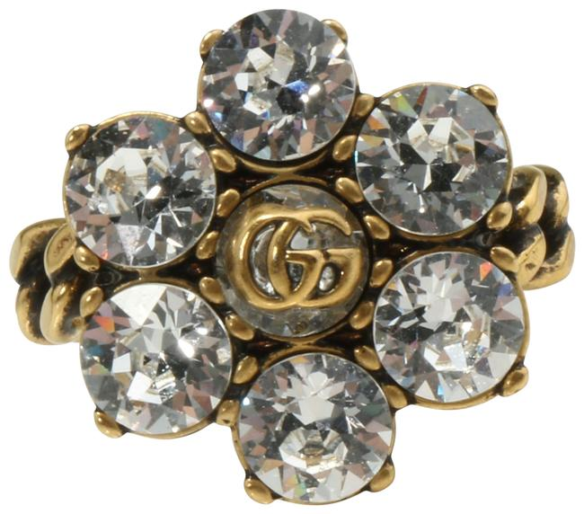 Item - Gold Crystal Double G Ring