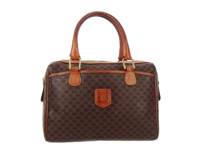 Item - Macadam Boston Doctor Brown Canvas and Leather Tote