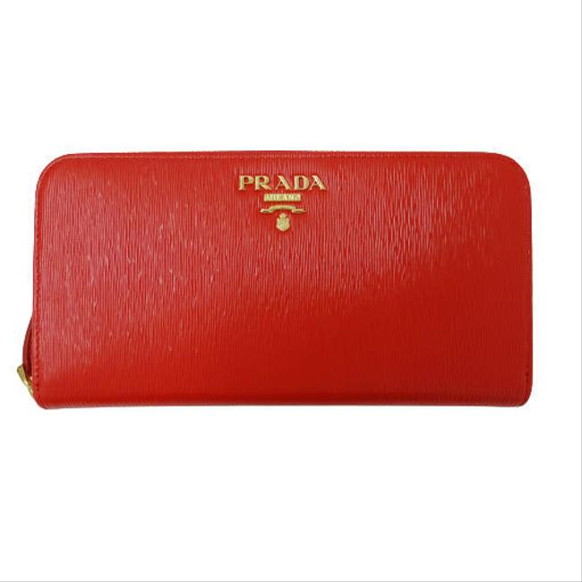 Item - Red Color Long Leather Vittello Move 1ml506 Wallet