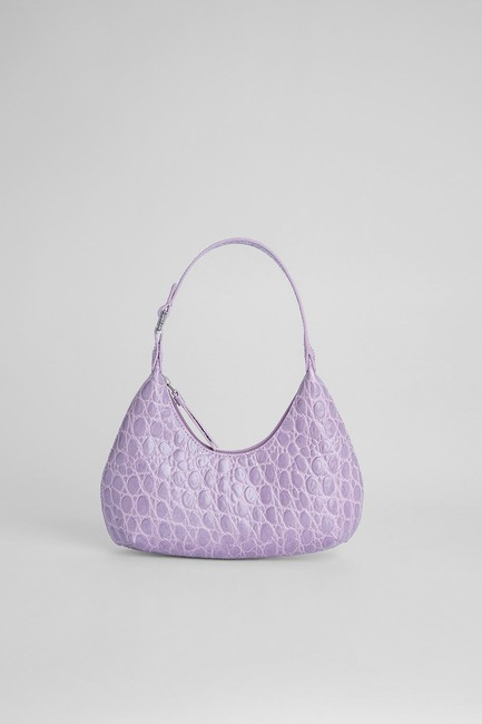 By Far Mini Amber Lilac Leather Shoulder Bag By Far Mini Amber Lilac Leather Shoulder Bag Image 2