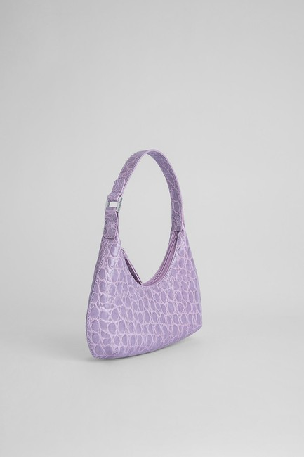 By Far Mini Amber Lilac Leather Shoulder Bag By Far Mini Amber Lilac Leather Shoulder Bag Image 3