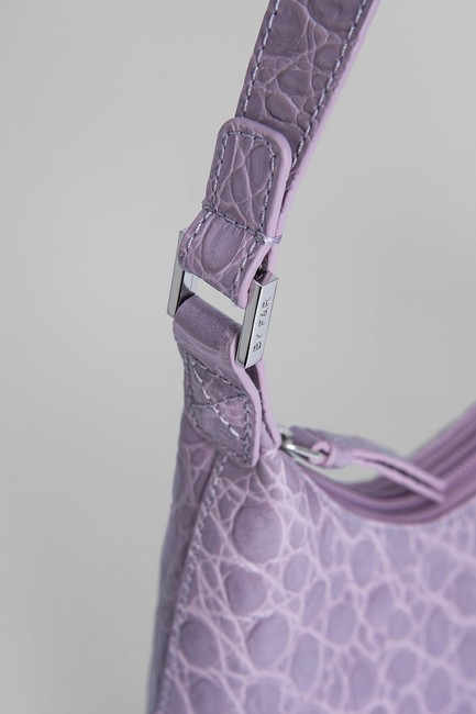 By Far Mini Amber Lilac Leather Shoulder Bag By Far Mini Amber Lilac Leather Shoulder Bag Image 4