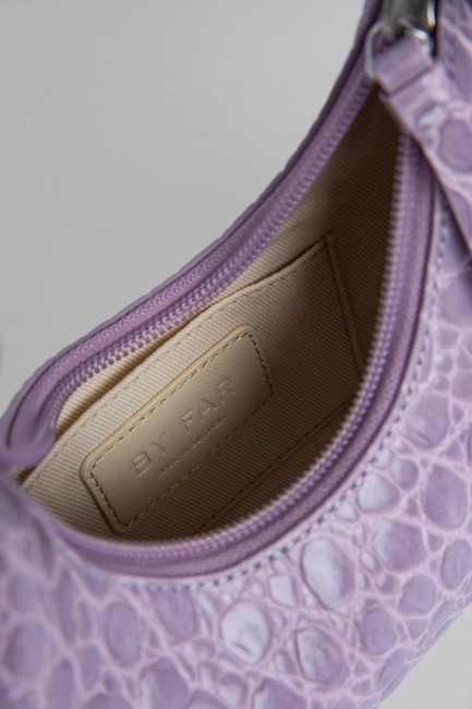 By Far Mini Amber Lilac Leather Shoulder Bag By Far Mini Amber Lilac Leather Shoulder Bag Image 5