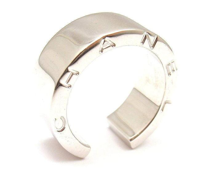 Item - 18k White Gold Smooth Open Ring