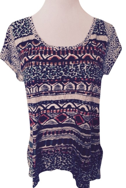 Lucky Brand T Shirt Navy Blue/Multi-Color