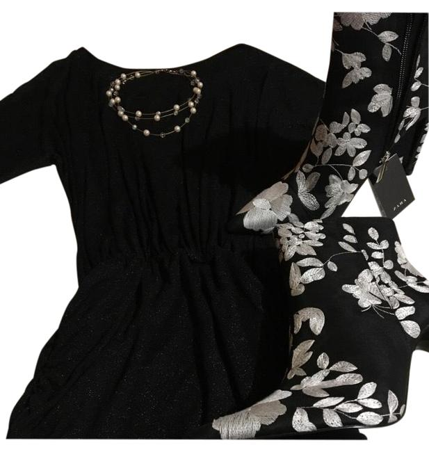 Item - Black Party Style Mid-length Night Out Dress Size Petite 6 (S)