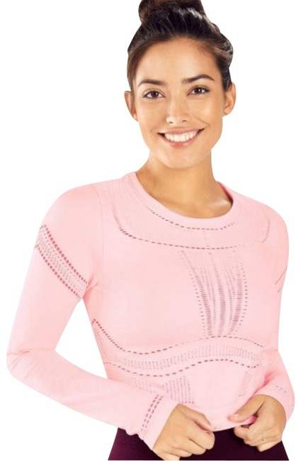 Item - Pink Jaymee Seamless Mesh Cropped Activewear Top Size 6 (S)