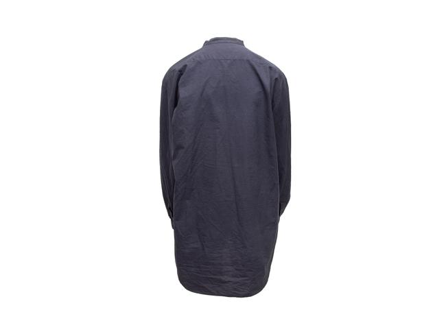 Item - Navy Long Sleeve Button Up Button-down Top Size 10 (M)