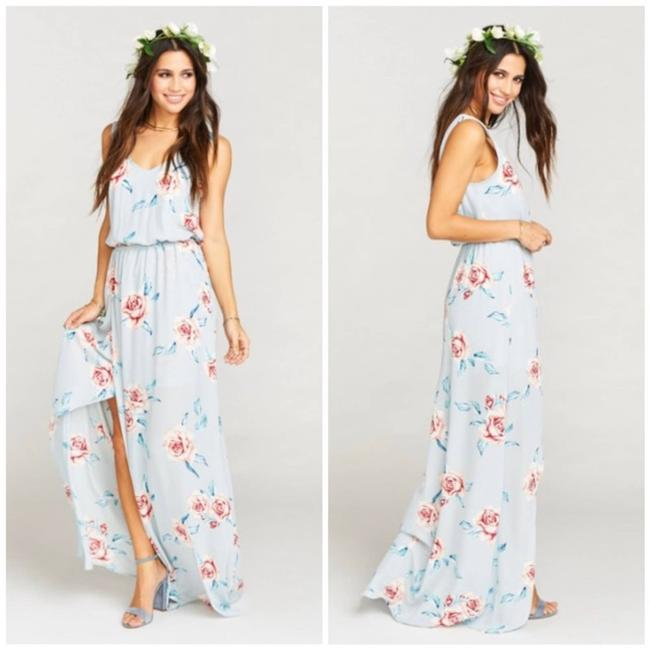 Item - Blue Kendall Long Casual Maxi Dress Size 4 (S)