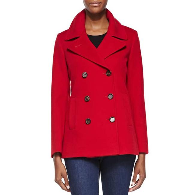 Item - Red Loro Piana Double-breasted Wool Coat Size 4 (S)