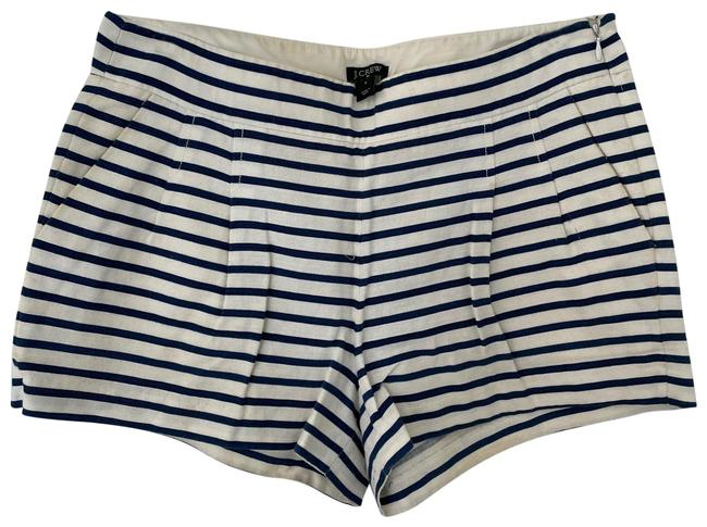 Item - Blue and White Stripe Factory Shorts Size 6 (S, 28)