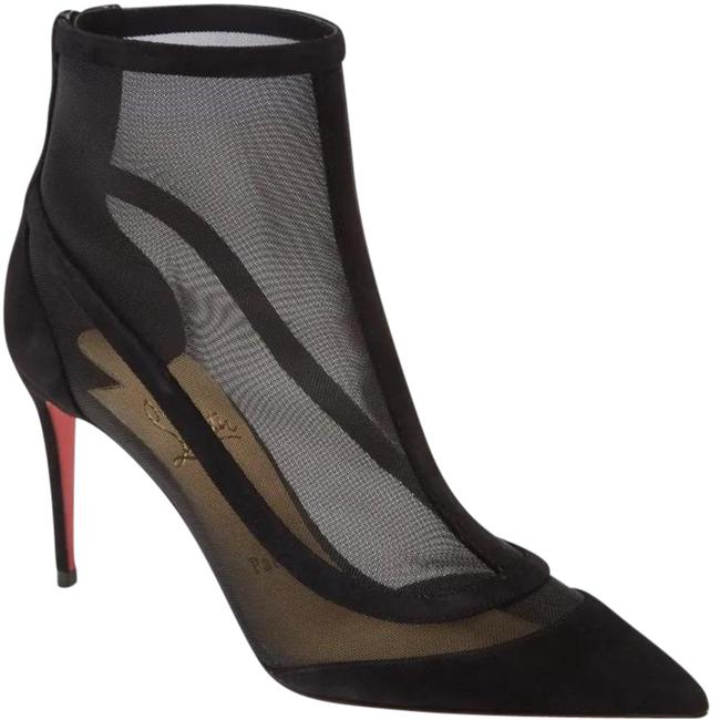 Item - Red Black Gala Mesh Pointed Toe Boots/Booties Size EU 37.5 (Approx. US 7.5) Regular (M, B)